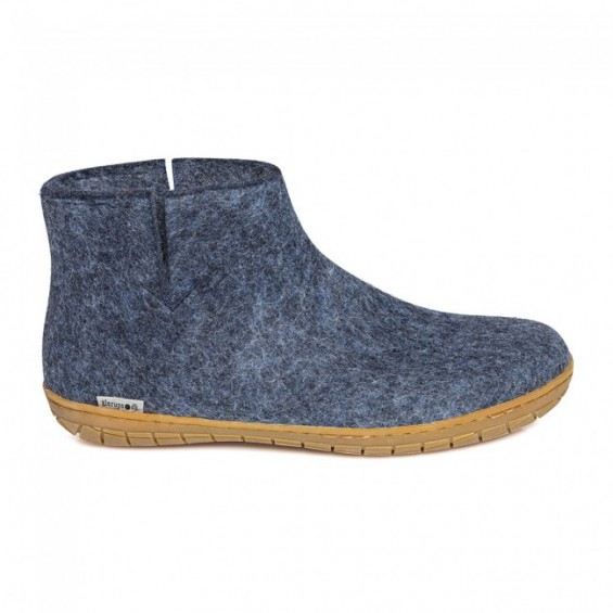 Glerups indoor laars met rubber zool - Denim