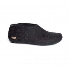 Glerups schoen met zwarte rubber zool - charcoal