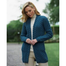 West End Knitwear - middellang vest van supersoft merinowol