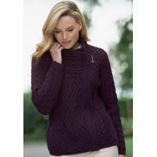 West End Knitwear - kort damesvest met rits van 100 % merinowol