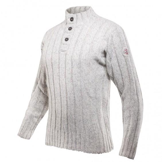 Devold Nansen rib knit met knopen