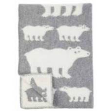 Klippan Polar Bear ledikantdeken van eco-wol