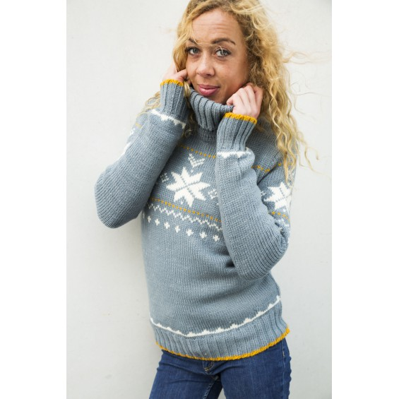 FuzaWool Freya sweater Misty
