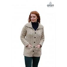 Aran Woollen Mills - vest met knopen