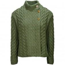 Aran Woollen Mills trui met knopen