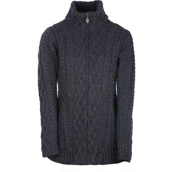 Aran Woollen Mills - B926 | getailleerd wollen vest met rits