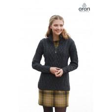 Aran Woollen Mills - getailleerd vest met rits