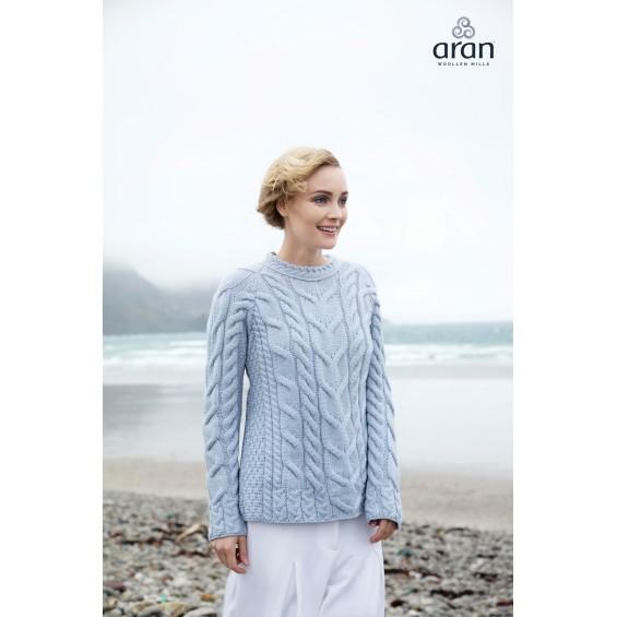 Aran Woollen Mills - trui met ronde hals