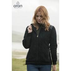 Aran Woollen Mills - stoer dames vest met rits