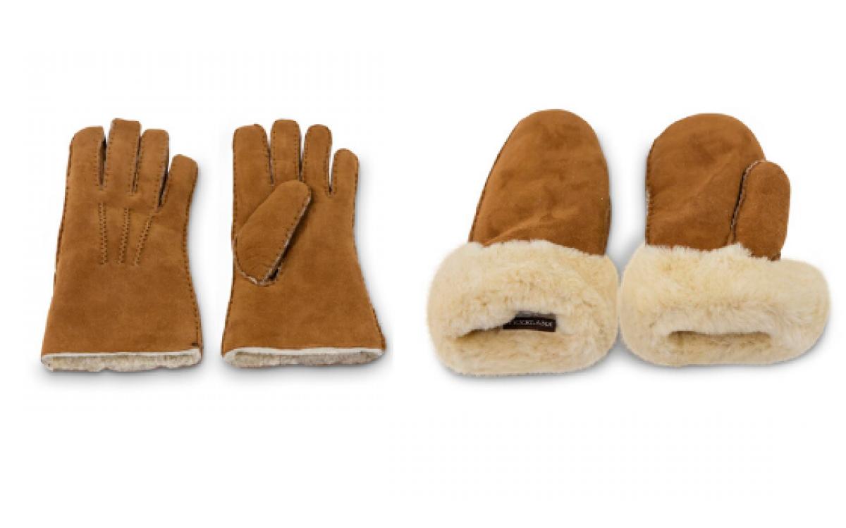 Handschoenen en wanten van schapenvacht