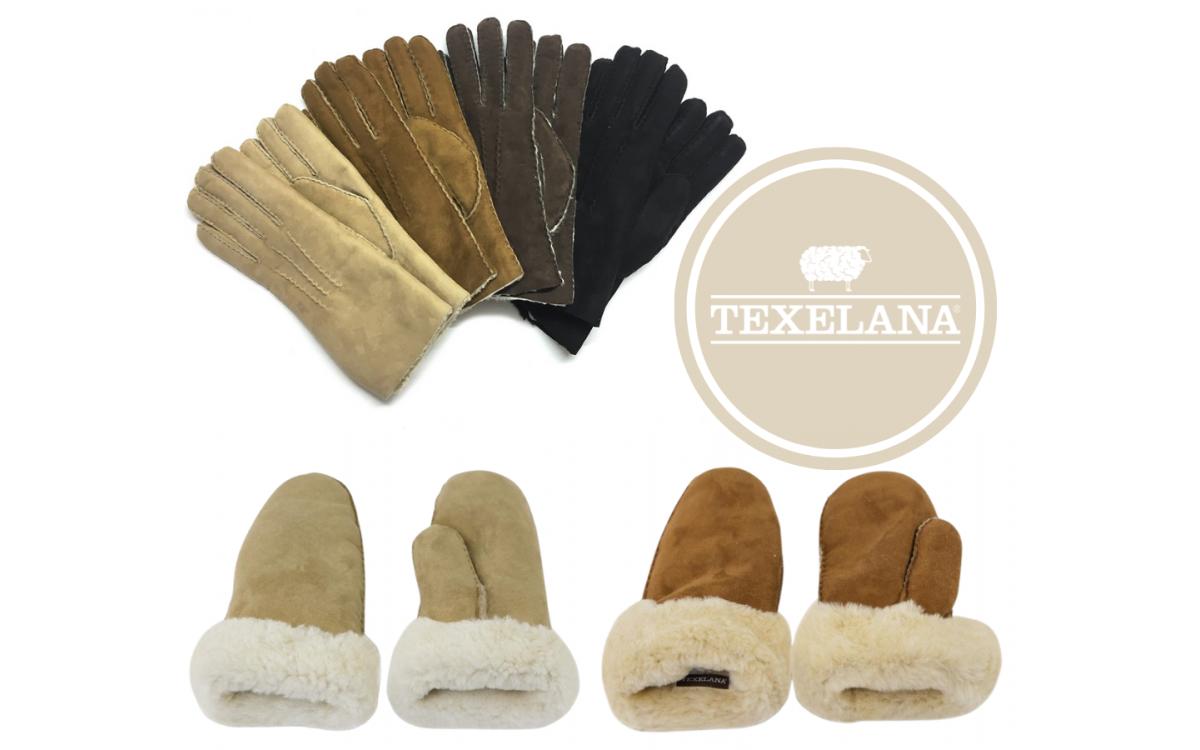 Warme handschoenen en wanten van schapenvacht