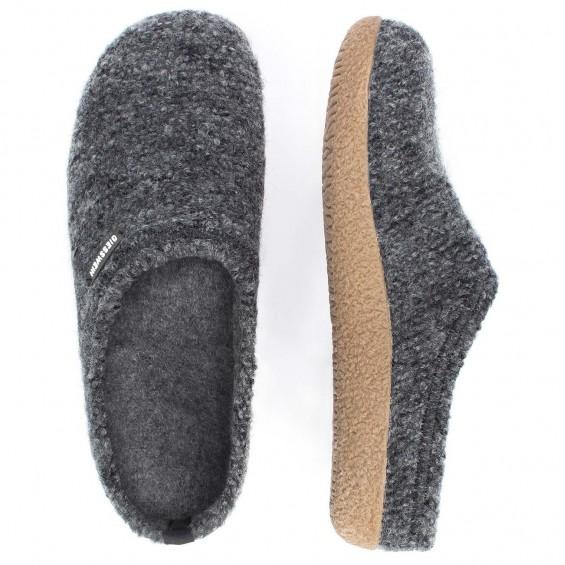 Giesswein Veitsch - pantoffel van scheerwol met uitneembaar voetbed