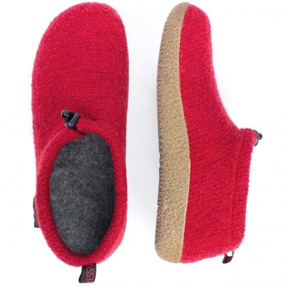 Giesswein Vent - pantoffel van scheerwol met uitneembaar voetbed