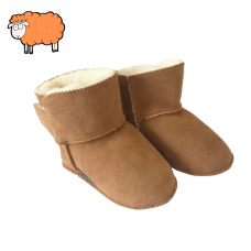 Babypantoffel van schapenvacht | model Isa.