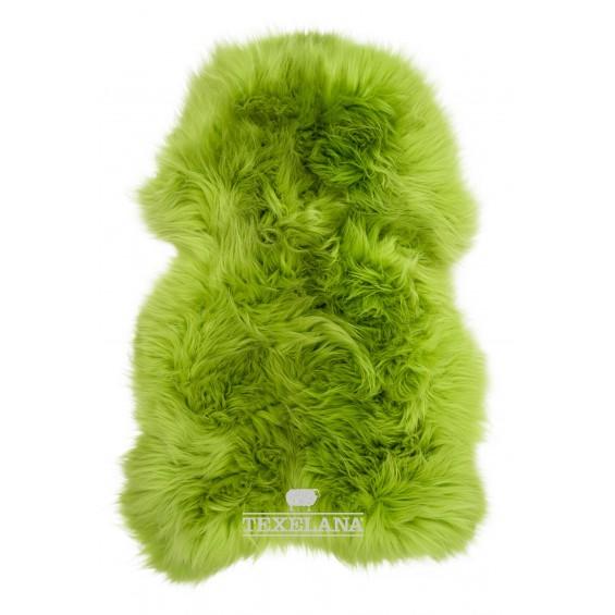 Texelana geverfde schapenvacht appel groen