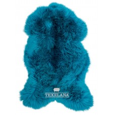 Texelana geverfde schapenvacht azuur blauw