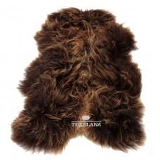 Geverfde IJslander schapenvacht langharig/bruin