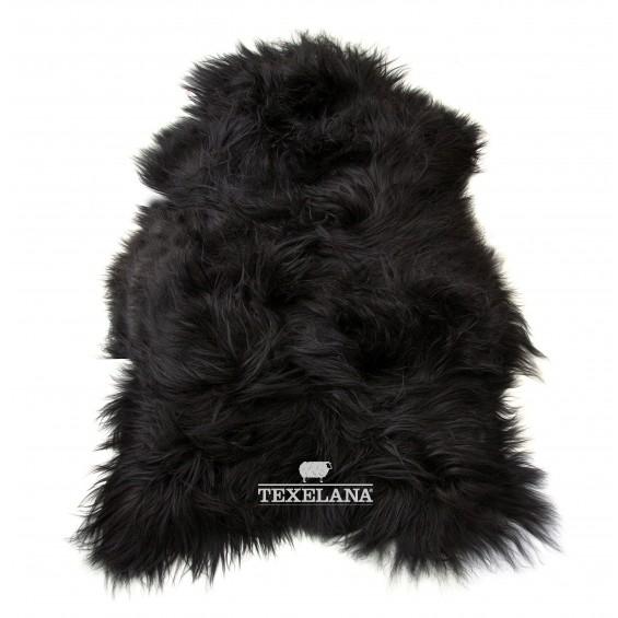 IJslandse schapenvacht zwart/langharig