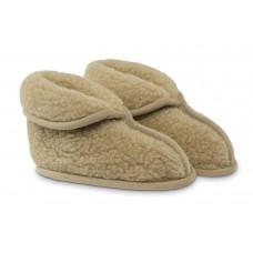 Lisa slaapkamer pantoffel van wol - beige