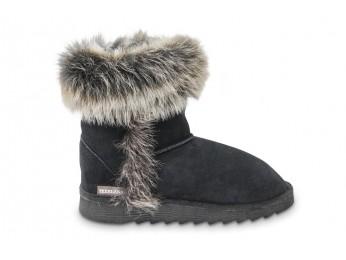 Meta outdoor bootie (laars van schapenvacht) zwart