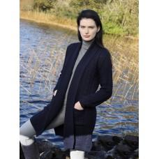 West End Knitwear - lang vest met sjaalkraag