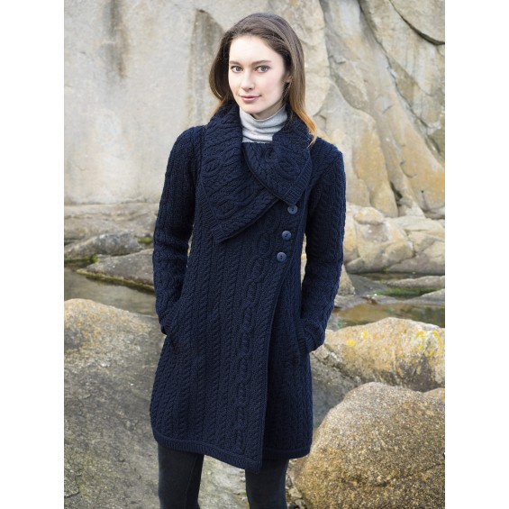 West End Knitwear - lang vest met knopen