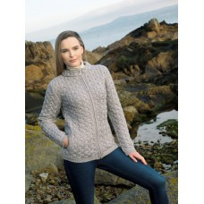 West End Knitwear - damesvest met rits, 100 % merinowol