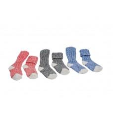 Kindersokken wol | set blauw/grijs | set roze/grijs.