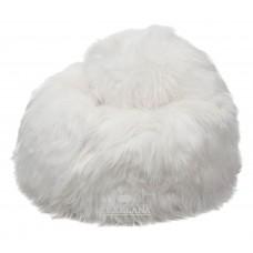 Zitzak van schapenvachten wit