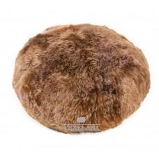 Vachtpoef vloer van Texelana schapenvacht - roest bruin