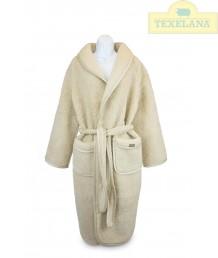 Badjas van schapenwol en tricot