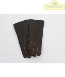 Vingerhandschoenen van lamsvacht Aubergine